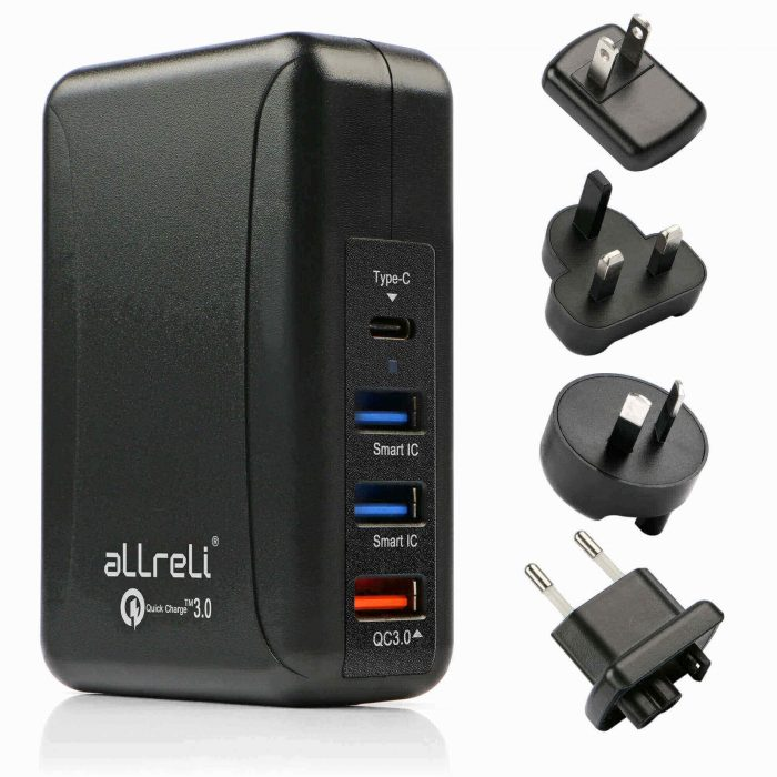 aLLreLi Quick Charge 3.0 USB Wall Charger