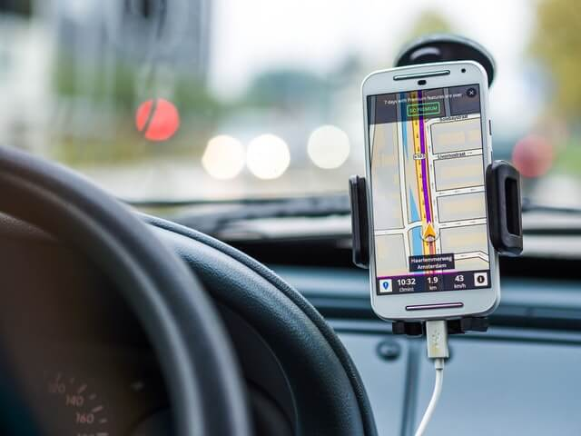 Magnetic phone mount will not affect phone's gps